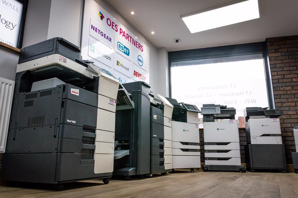 Business Photocopiers in our showroom